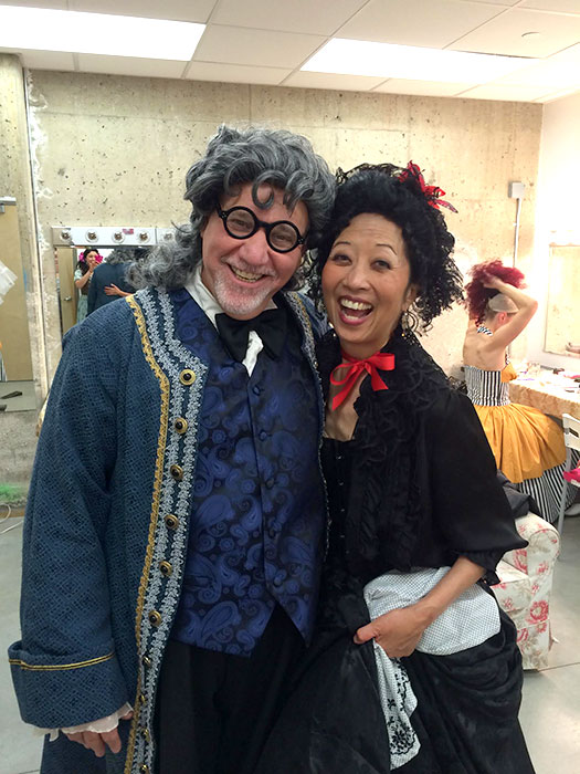FIGARO at A Noise Within March 2015...Bartolo and Marceleine. Jeanne Sakata and I having a great time.